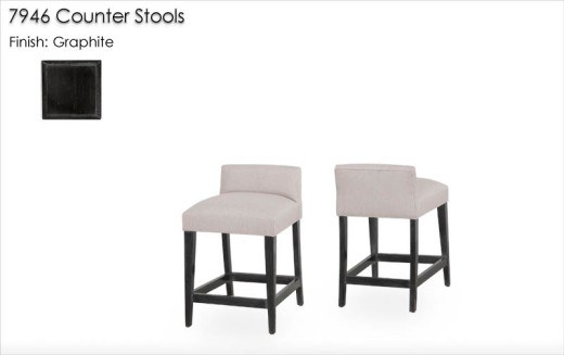 7946 Counter Stools finished in Graphite