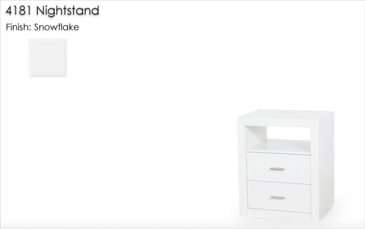 4181 Nightstand finished in Snowflake