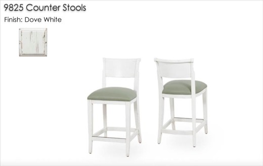 9825 Counter Stools finished in Marble