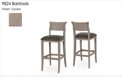 9824 Barstools finished in Oyster9824 Barstools finished in Oyster