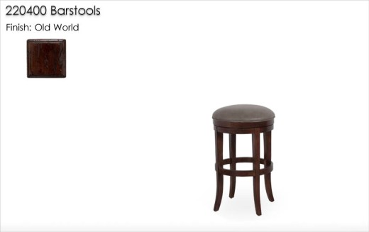 220400 Barstools finished in Old World