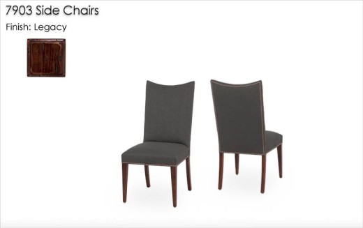 7903 Side Chairs finished in Legacy