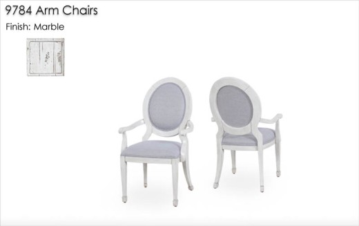 9784 Arm Chairs finished in Marble