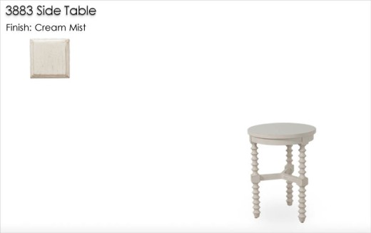 3883 Side Table finished in Cream Mist