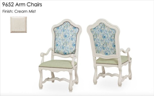 9652 Arm Chairs finished in Cream Mist