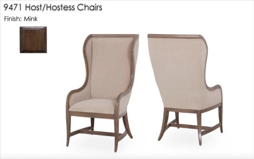 9471 Host / Hostess Chairs finished in Mink