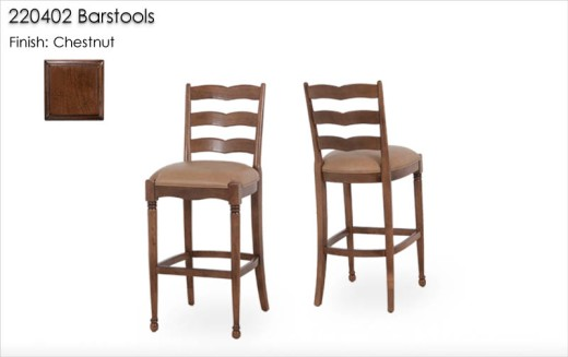 220402 Barstools finished in Chestnut