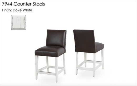7944 Counter Stools finished in Dove White