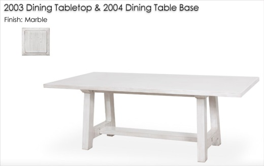 2003 Dining Tabletop and 2004 Dining Table Base finished in Marble