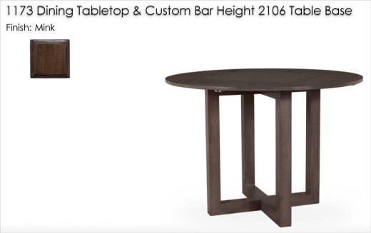 Custom Bar Height Table finished in Mink