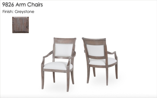 9826 Arm Chairs finished in Greystone