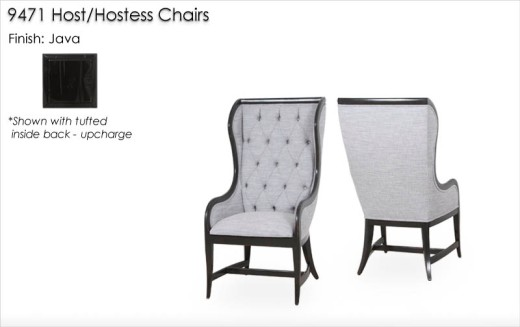 9471 Host/Hostess Chairs finished in Java