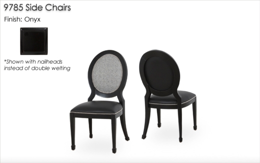 9785 Side Chairs finished in Onyx