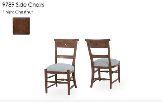 9789 Side Chairs finished in Chestnut