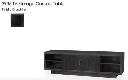 Lorts 3935 TV Storage Console Table finished in Graphite