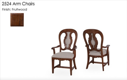 2524 Arm Chairs finished in Fruitwood