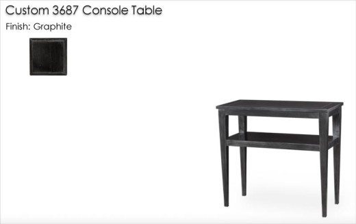 Custom 3687 Console Table finished in Graphite