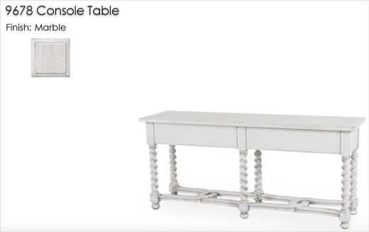 Lorts 9678 Console Table finished in Marble