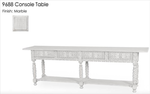 Lorts 9688 Console Table finished in Marble