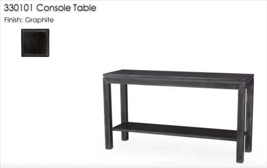 330101 Console Table finished in Graphite