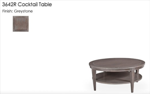 Lorts 3642R Cocktail Table finished in Greystone