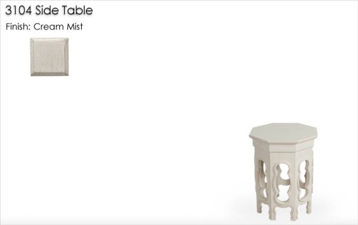 Lorts 3104 Side Table finished in Cream Mist