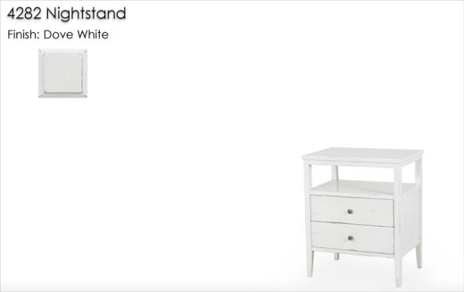 Lorts 4282 Nightstand finished in Dove White