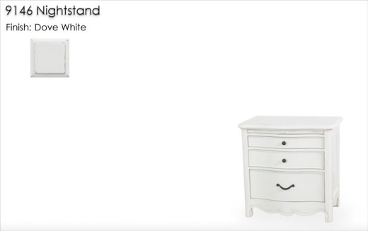 9146 Nightstand finished in Dove White