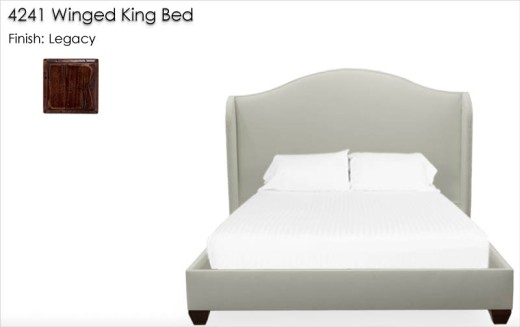 Lorts 4241 Winged King Bed finished in Legacy