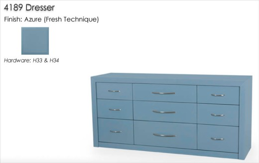 Lorts 4189 Dresser finished in Azure