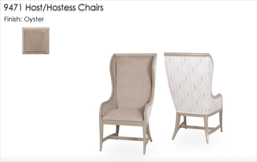 Lorts 9471 Host/Hostess Chairs finished in Oyster