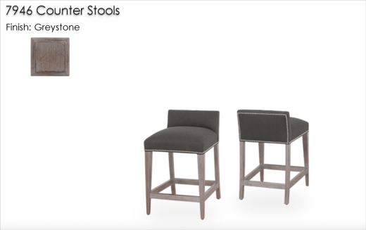 Lorts 7946 Counter Stools finished in Greystone