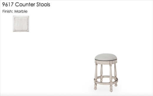 Lorts 9617 Counter Stools finished in Marble