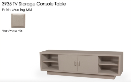 Lorts 3935 TV Storage Console Table finished in Morning Mist