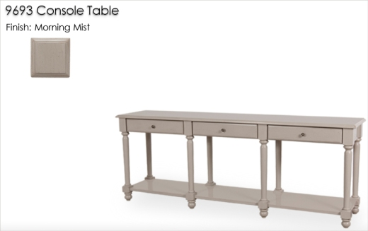 9693 Console Table finished in Morning Mist