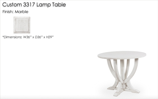 Lorts Custom 3317 Lamp Table finished in Marble