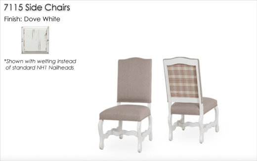 7115 Side Chairs finished in Dove White