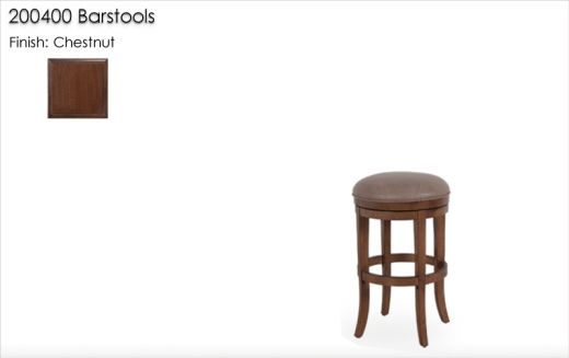 220400 Barstools finished in Chestnut