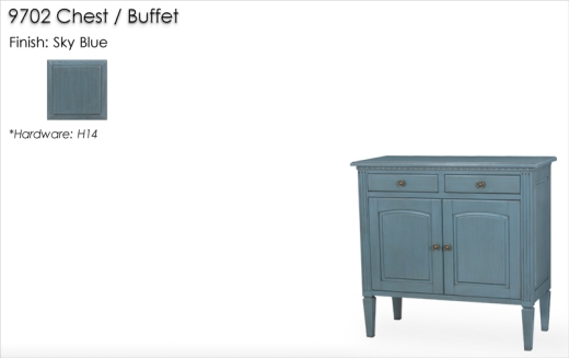Lorts 9702 Chest / Buffet finished in Sky Blue