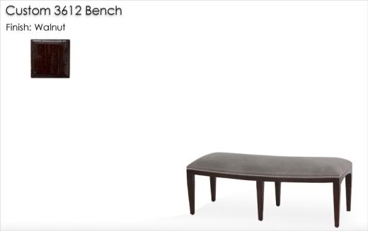 Custom 3612 Bench finished in Walnut