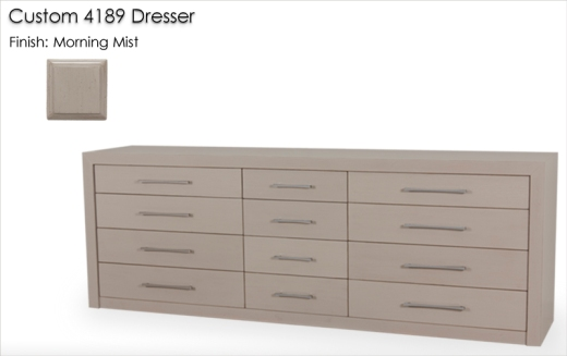 Custom 4189 Dresser finished in Morning Mist