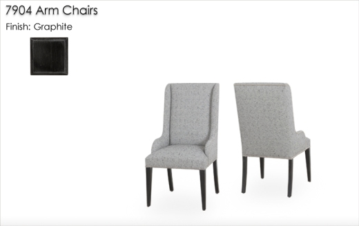 7904 Arm Chairs finished in Graphite