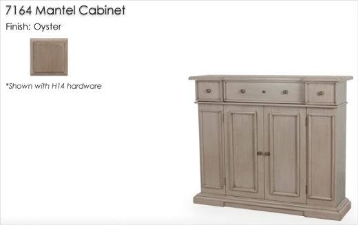 Lorts 7164 Mantel Cabinet finished in Oyster