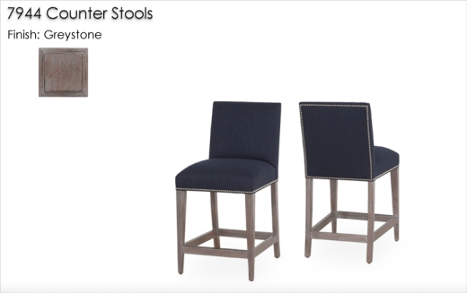 7944 Counter Stools finished in Greystone