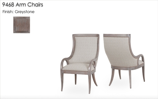 Lorts 9468 Arm Chairs finished in Greystone