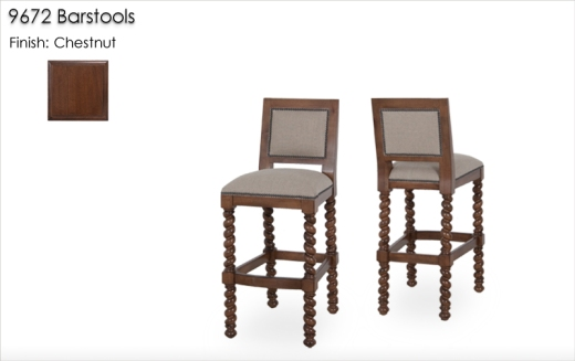 9672 Barstools finished in Chestnut