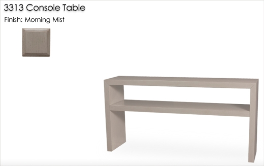 Lorts 3313 Console Table finished in Morning Mist