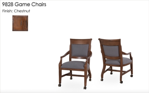 9828 Game Chairs finished in Chestnut