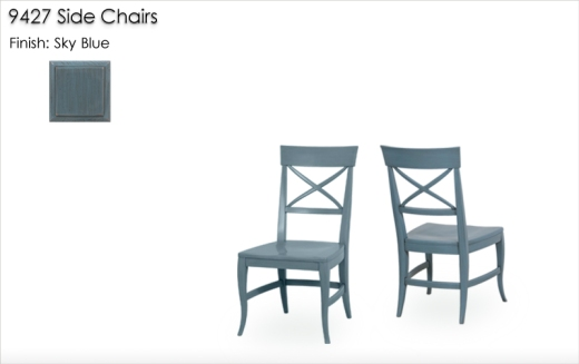 Lorts 9727 Side Chairs finished in Sky Blue