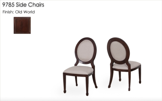 Lorts9785 Side Chairs finished in Old World